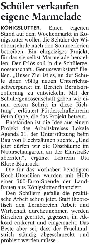 Braunschweiger Zeitung erschienen am 26.06.2012
