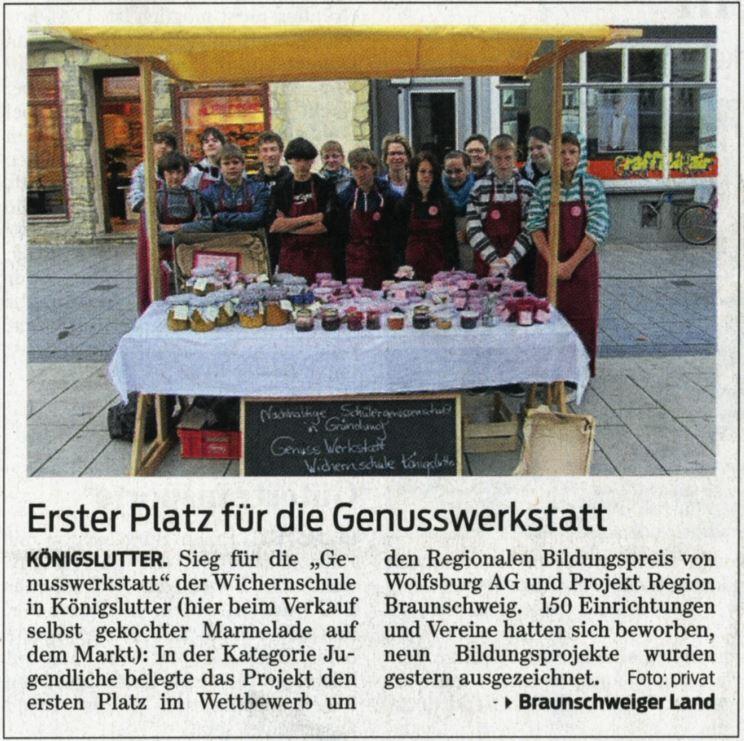 Braunschweiger Zeitung erschienen am 06.12.2012