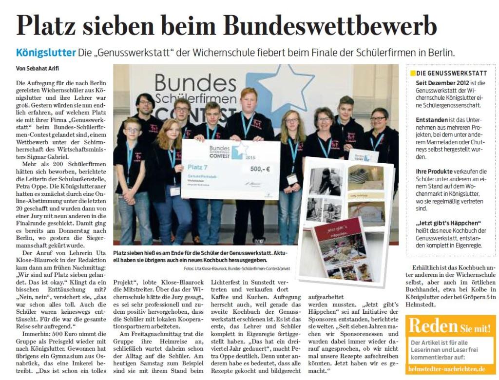 Braunschweiger Zeitung - 21.11.15