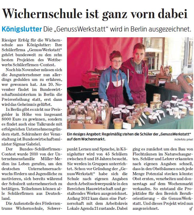 Braunschweiger Zeitung - 08.09.15