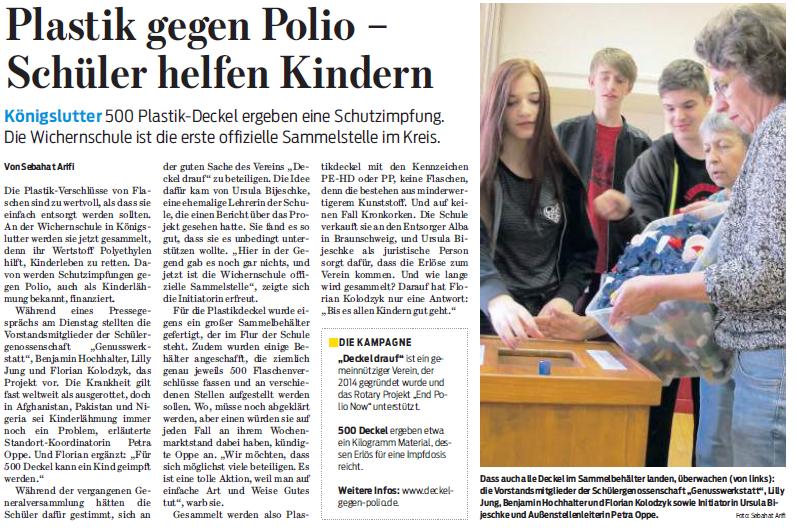 Braunschweiger Zeitung 17. August 2016