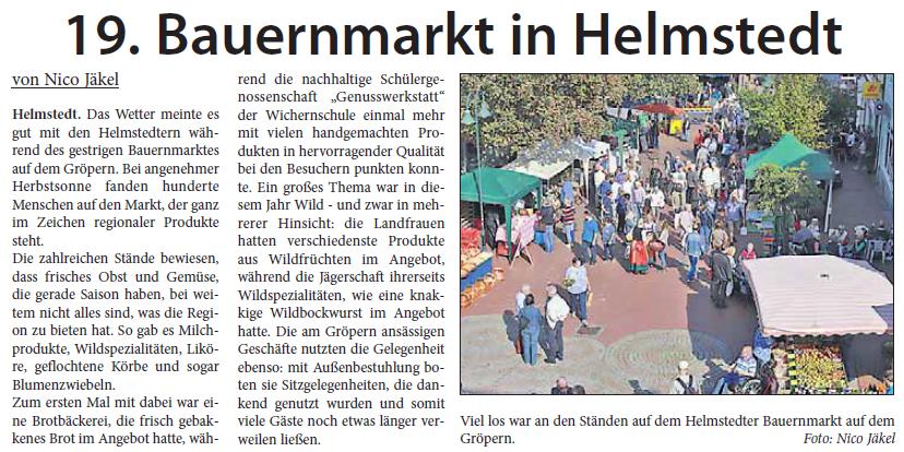 Helmstedter Sonntag 25 September 2016