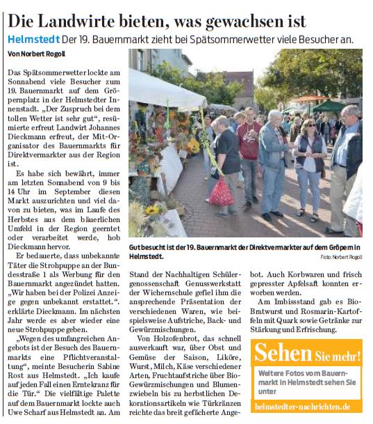 Braunschweiger Zeitung 26. September 2016