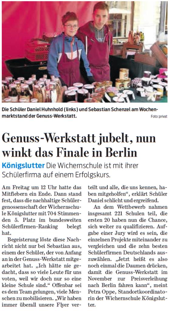 Braunschweiger Zeitung - 02.08.2015